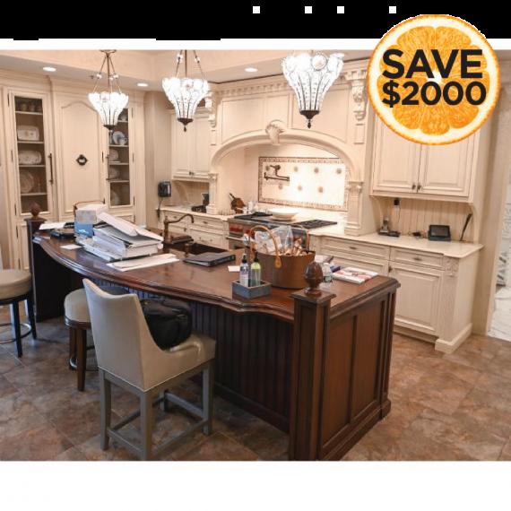 Kountry Kraft Cornerstone Traditional Showroom Display Kitchen