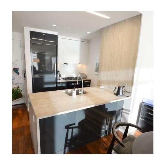 Modern Brooklyn Waterfall Pre-Owned Kitchen