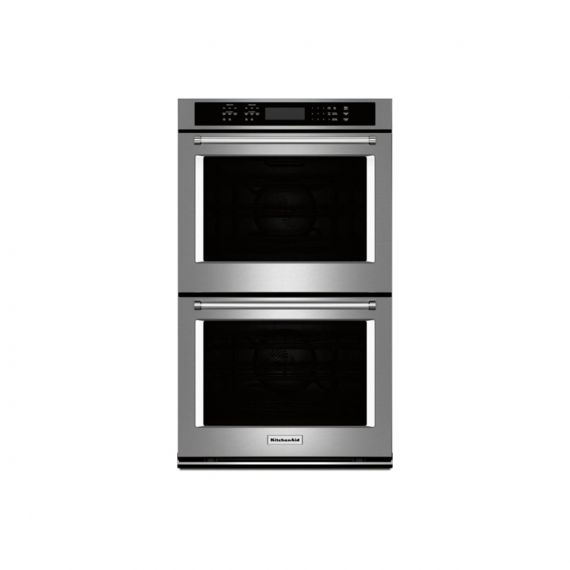 """KitchenAid 27"""" Stainless Steel Double Oven w/ Convection"""
