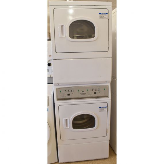 """Speed Queen 27"""" White Gas Stacked Dryers 2017"""