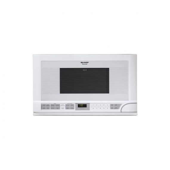 """Sharp Carousel 24"""" White Over-the-Counter Microwave Oven"""