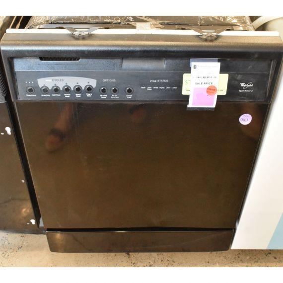 "Whirlpool 24"" Black Full Console Quiet Partner II Dishwasher"