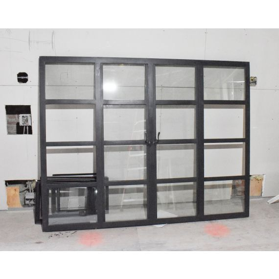Custom Set Of 9 Steel Frame Windows