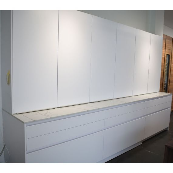 Leicht Polar White Modern Showroom Display Pantry