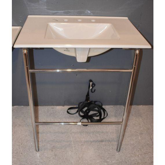 Console Sink w/ Chrome Legs