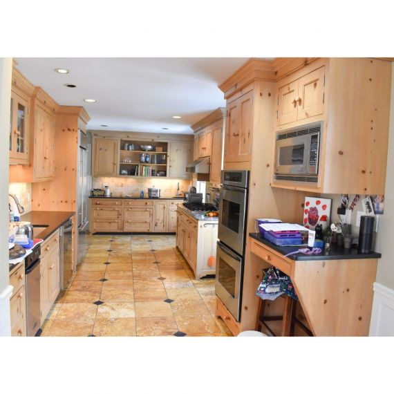 Custom Knotty Pine Traditional Pre-Owned Kitchen