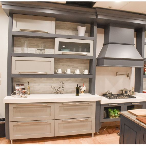 Grey Vale Transitional Showroom Display Kitchen