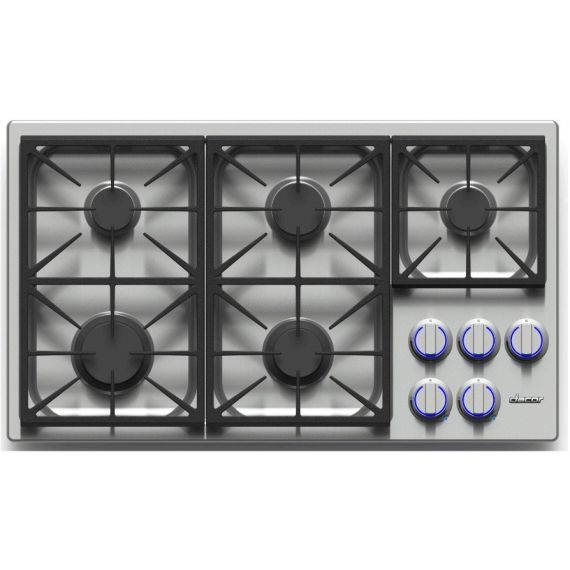 """Dacor 36"""" Stainless Gas Cooktop w/ 5 Sealed Burners"""