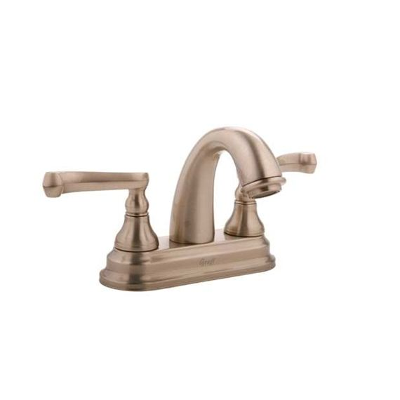 Graff Elegante Satin Nickel Centerset Bath Faucet