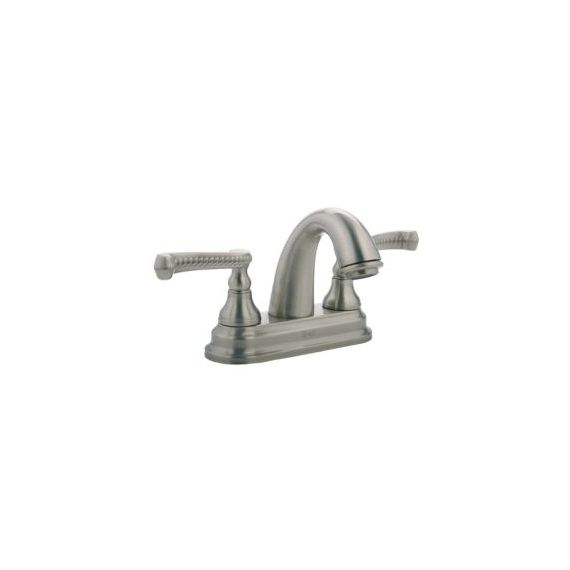Graff Elegante Brushed Nickel Braided Centerset Bath Faucet