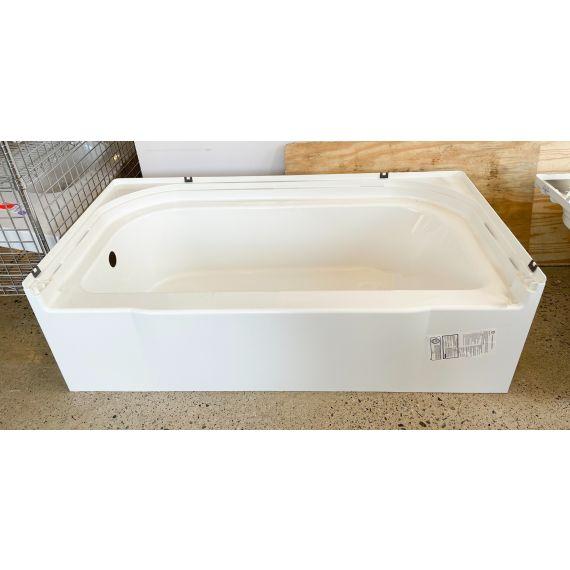 """Sterling 60"""" White Vikrell Alcove Tub"""