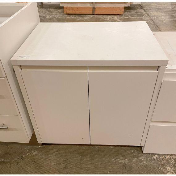 Two Door White Lacquer Cabinet