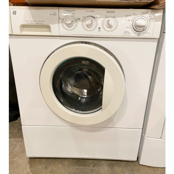 """GE 27"""" White Front Load Stackable Washer 2005"""