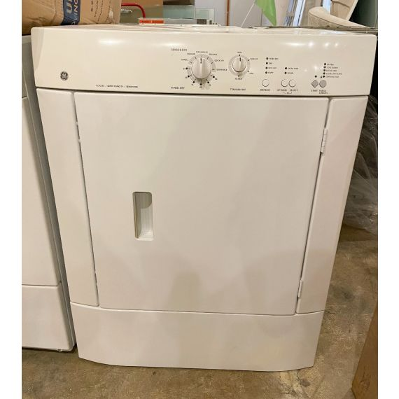 """GE 27"""" White Front Load Stackable Dryer 2010"""