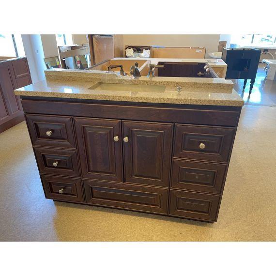 """Strasser Woodenworks 49"""" Single Vanity w/ Stone Top, Sink & Faucet"""
