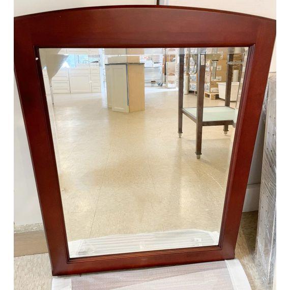 "30"" Cherry Wood Framed Mirror"