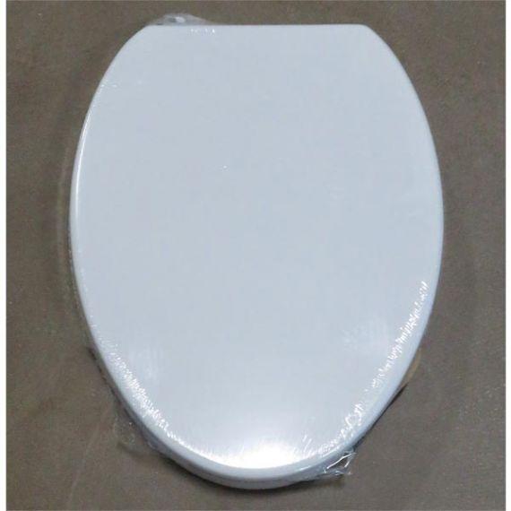 Lefroy Brooks Classic White Elongated Toilet Seat w/ Brushed Nickel Bar Hinge