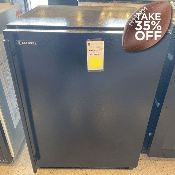 """Marvel 24"""" Black Under-Counter Refrigerator"""
