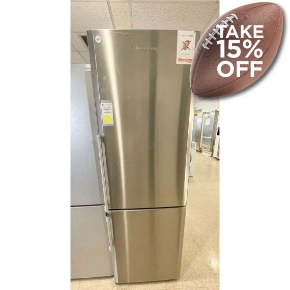 "Blomberg 24"" Stainless Refrigerator w/ Bottom Freezer"