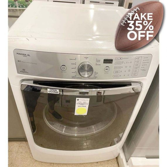 """Maytag 27"""" White Front Load Dryer"""
