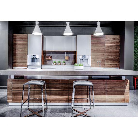 Team 7 Natural Walnut Modern Showroom Display Kitchen w/ Gaggenau Appliances