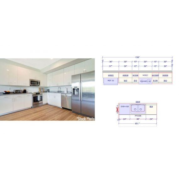 BRAND NEW Miami Beach Modern Wall & Island Kitchenette (Unit 5)