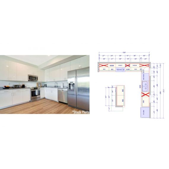 BRAND NEW Miami Beach Modern, L-Shaped Kitchen + Island (Unit 6)