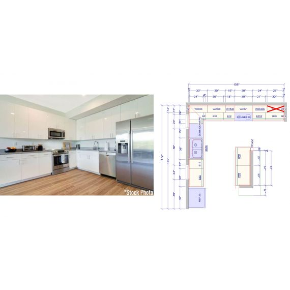 BRAND NEW Miami Beach Modern, L-Shaped Kitchen + Island (Unit 12)