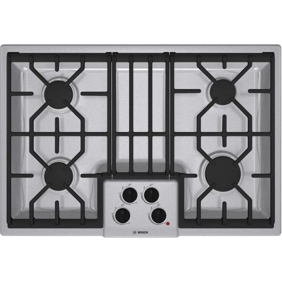 """Bosch 30"""" Stainless Gas Cooktop"""