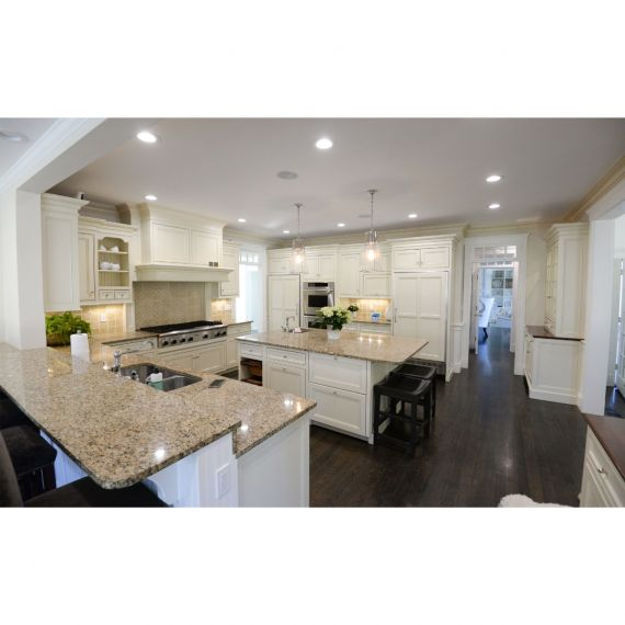 Coconut Cream Traditional Pre-Owned Kitchen & Butler's Pantry