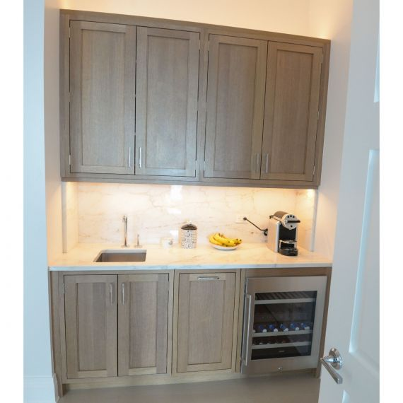 Ecru Transitional Pre-Owned Wet Bar