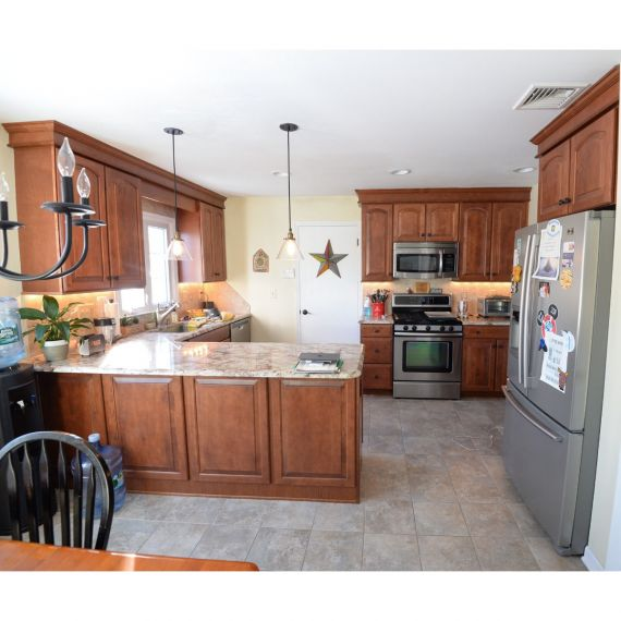 Custom Praline Traditional Pre-Owned Kitchen