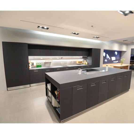 Arclinea Italia Dark Grey Modern Showroom Display Kitchen