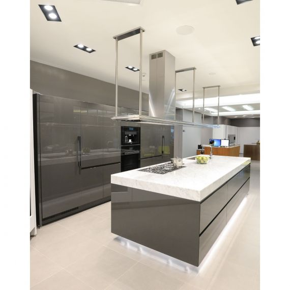 Arclinea Glossy Granito Grey Modern Showroom Display Kitchen