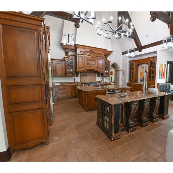 Chateau Designs Hand Carved Pre-Owned Kitchen