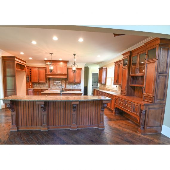 Custom Maple Pecan Traditional Pre-Owned Kitchen