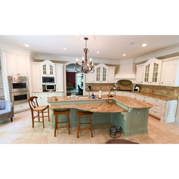 Franklin Lakes Custom Two Tone Traditional Pre-Owned Kitchen & Desk Area