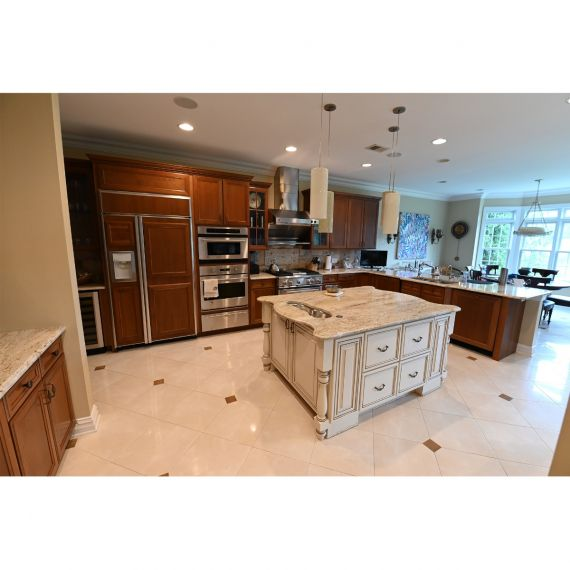 Roasted Hazelnut Traditional Pre-Owned Kitchen & Wet Bar