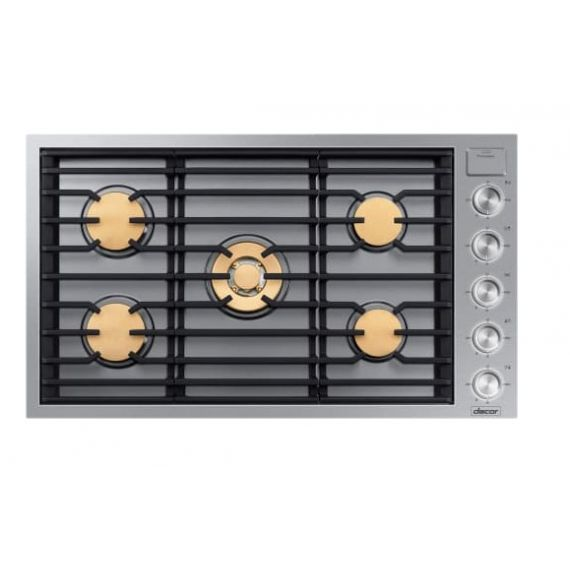 """Dacor 36"""" Stainless Gas 5 Burner Cooktop"""