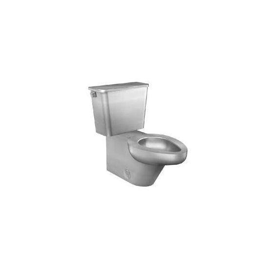 Neo-Metro Urban Stainless Steel Mira Finish Residential Toilet w/ Elongated Bowl