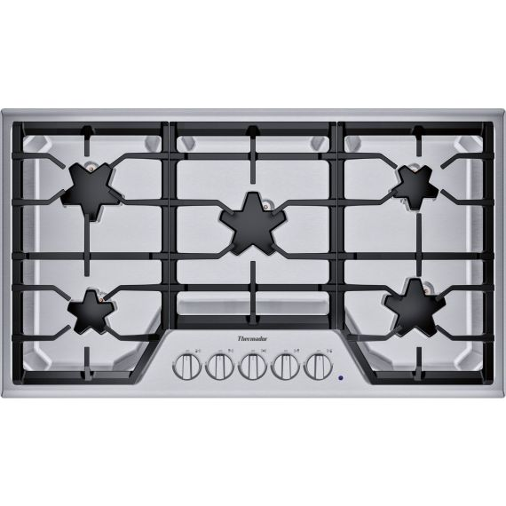 """Thermador 36"""" Stainless Built-In Gas Cooktop"""