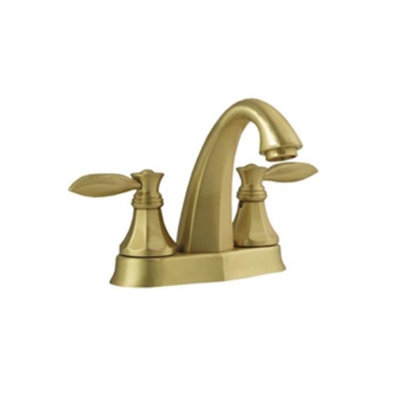 Graff Topaz Brushed Brass Centerset Bath Faucet