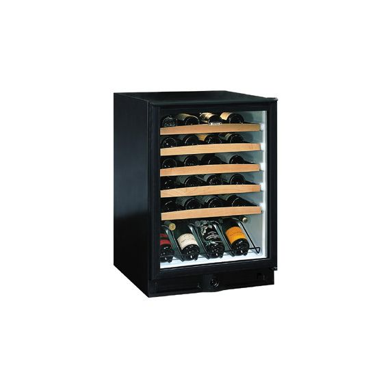 "U-Line Echelon Wine Captain 24"" Black Wine Cooler"
