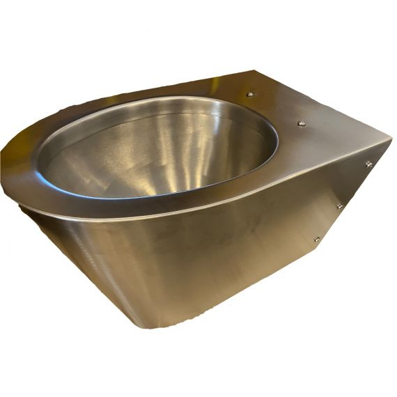 Neo-Metro Miniloo Stainless Steel Wall Mount Toilet Bowl Only Satin Finish