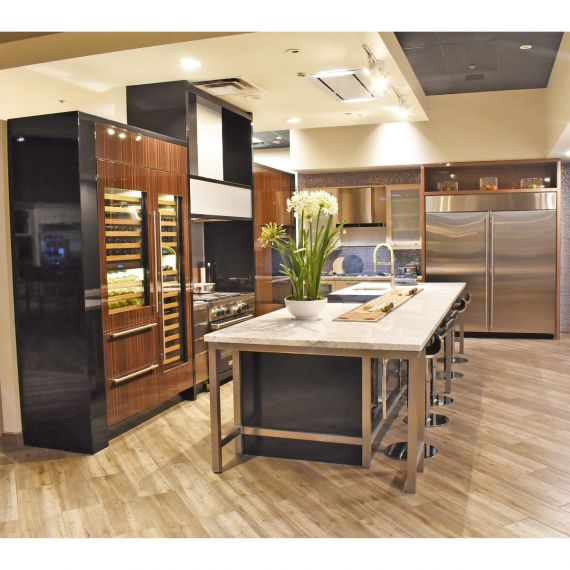 Downsview Stainless & Zebra Wood Modern Showroom Display Kitchen