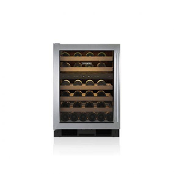 """Sub-Zero 24"""" Stainless Glass Door Wine Cooler"""