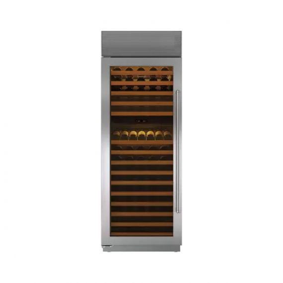 """Sub-Zero 30"""" Stainless Full-Height Wine Cooler"""