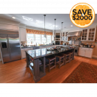 Concord Stormy White Traditional Pre-Owned Kitchen & Butler's Pantry