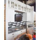Black & Winter White Traditional Showroom Display Kitchen